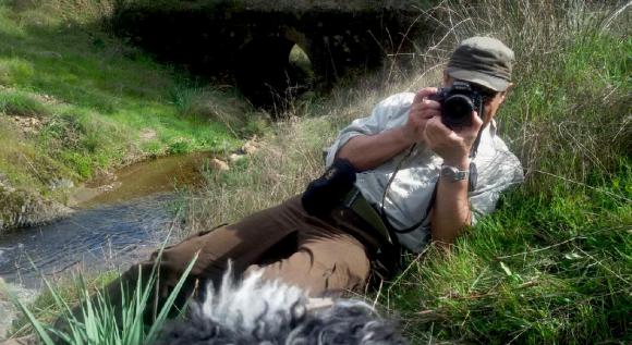 Antonio fotografiando